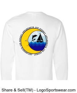 DOLPHIN LOGO Youth long sleeve t-shirt with sleeve detail Design Zoom